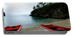 Portable Battery Charger featuring the photograph Two Boats, Island Of Curacao by Kurt Van Wagner