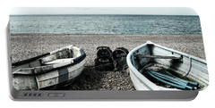 Two Boats On Seaford Beach Portable Battery Charger