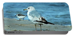 Two By The Sea  Portable Battery Charger by Christy Ricafrente