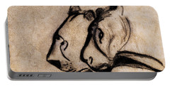 Two Chauvet Cave Lions - Clear Version Portable Battery Charger
