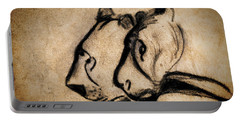 Two Chauvet Cave Lions Portable Battery Charger
