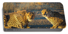 Two Cheetahs Portable Battery Charger by Inge Johnsson