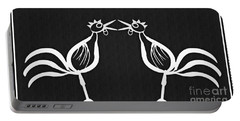 Two Crowing Roosters 2 Portable Battery Charger
