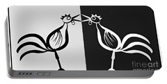 Two Crowing Roosters 3 Portable Battery Charger