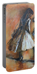 two dancers II after Degas Portable Battery Charger