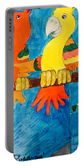 Two Double Yelloe Headed Birds Portable Battery Charger