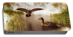 Two Ducks In A Pond Portable Battery Charger