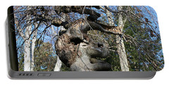 Two Elephants In A Tree Portable Battery Charger