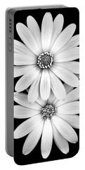 Two Flowers Portable Battery Charger by Az Jackson