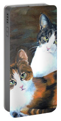 Two Friends Portable Battery Charger by Diane Daigle