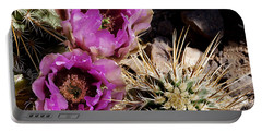 Portable Battery Charger featuring the photograph Two Fucshia Blossoms  by Phyllis Denton