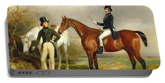 Two Gentlemen Out Hunting  Portable Battery Charger
