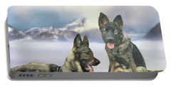 Portable Battery Charger featuring the photograph Two German Shepherds by Janette Boyd and John Noyes