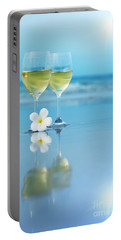 Two Glasses Of White Wine Portable Battery Charger