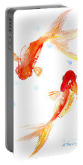 Two Goldfish Feng Shui Portable Battery Charger