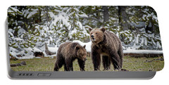 Two Grizzly Bears Portable Battery Charger
