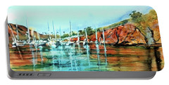Two Harbors Catalina Morning Impressions Portable Battery Charger by Debbie Lewis