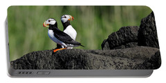 Two Horned Puffins Portable Battery Charger