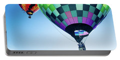 Two Hot Air Balloons Ascending Portable Battery Charger