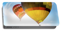 Two Hot Air Balloons Into The Sun Portable Battery Charger