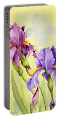 Two Irises  Portable Battery Charger