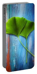 Two Leaves Of Ginkgo Biloba Portable Battery Charger