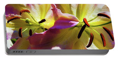 Portable Battery Charger featuring the photograph Two Lilies by Jessica Manelis