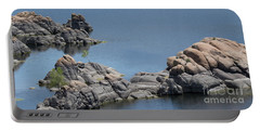 Two Lone Trees At Granite Dells Portable Battery Charger by Anne Rodkin