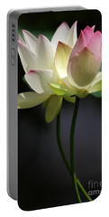 Two Lotus Flowers Portable Battery Charger