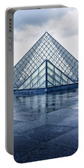 Two Louvre Pyramids Paris Portable Battery Charger