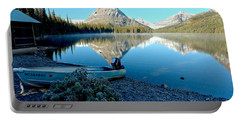 Portable Battery Charger featuring the photograph Two Medicine Boat 4 by Adam Jewell
