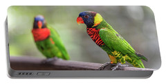 Portable Battery Charger featuring the photograph Two Parrots by Pradeep Raja Prints