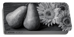 Two Pears And Sunflowers Portable Battery Charger