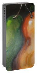 Portable Battery Charger featuring the painting Two Pears by Jolanta Anna Karolska