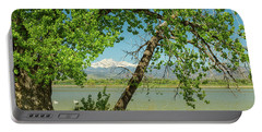 Portable Battery Charger featuring the photograph Two Pelican Twin Peaks Springtime View by James BO Insogna