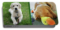 Two Puppies Two Yellow Labs Portable Battery Charger