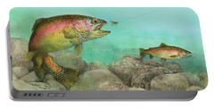 Two Rainbow Trout Portable Battery Charger