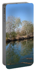 Portable Battery Charger featuring the photograph Two Reflected by Laurel Powell