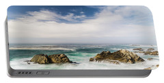 Portable Battery Charger featuring the photograph Two Rocks In The Pacific Ocean by Jingjits Photography