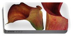 Two Rust Calla Lilies Square Portable Battery Charger