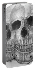 Portable Battery Charger featuring the photograph Two Skulls ... by Juergen Weiss