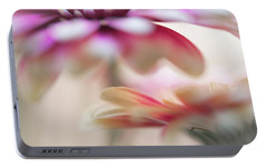 Portable Battery Charger featuring the photograph Two Souls 1. Macro Gerbera by Jenny Rainbow