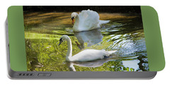 Two Swans On A Lake Portable Battery Charger