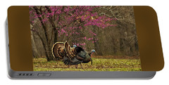 Two Tom Turkey And Redbud Tree Portable Battery Charger