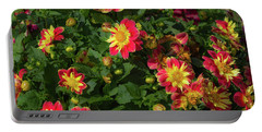 Two Tone Dahlias Portable Battery Charger