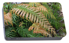 Portable Battery Charger featuring the photograph Two Tone Fernleaf by Nareeta Martin
