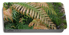 Two Tone Fernleaf Portable Battery Charger by Nareeta Martin