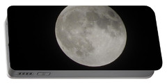 Two-tone Gray Moon Portable Battery Charger