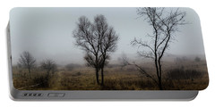 Two Trees In The Fog Portable Battery Charger