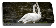 Two Trumpter Swans Portable Battery Charger